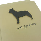 Australian Cattle Dog Sympathy Card 10 Pack or Single Card Dog Greeting Cards Dog Sympathy Cards - Embellish by Jackie