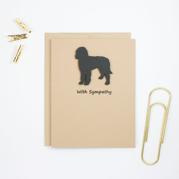 Bernedoodle Sympathy Card | 10 Pack - Single Card | Black Labradoodle Greeting Cards | Choose Inside