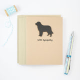 Golden Retriever Sympathy Card | Single or 10 Pack| Handmade Black Dog Greeting Cards | Pick Inside