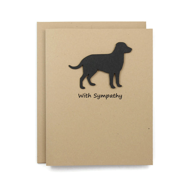 Black Labrador Retriever Sympathy Card 10 Pack or Single Card Dog Greeting Cards Dog Sympathy Cards - Embellish by Jackie