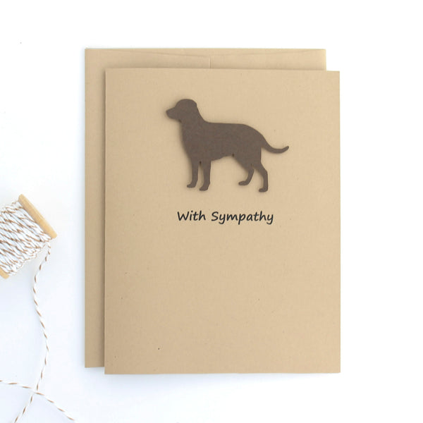 Chocolate Labrador Retriever Sympathy Card 10 Pack or Single Card Brown Dog Greeting Cards Dog Sympathy Cards - Embellish by Jackie
