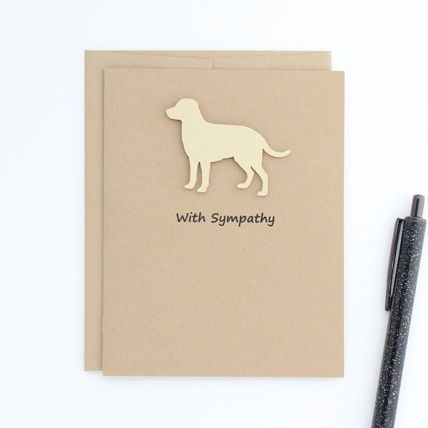 Yellow Labrador Retriever Sympathy Card 10 Pack or Single Card Yellow Lab British Lab