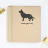 German Shepherd Sympathy Card | 10 Pack or Single | Handmade Black Dog Greeting Cards | Condolences