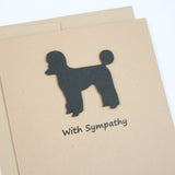 Poodle Sympathy Dog Card | Single Card - 10 | Choose Inside | Toy Miniature Standard | Sporting Clip