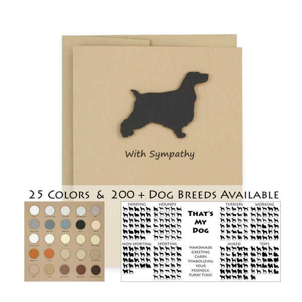 Dog Sympathy Card | 200+ Dog Breeds to Choose from | 25 Dog Colors Available | Choose Inside Phrase | Single Card or 10 Pack