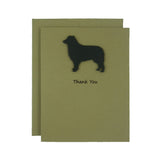 Border Collie Thank You Card 10 Pack or Single Card Dog Greeting Cards Dog Thank You Card - Embellish by Jackie