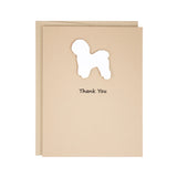 Bichon Frise Thank You Card | Handmade White Dog Greeting Cards | Single or 10 Pack | Pick inside
