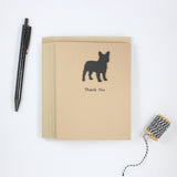 French Bulldog Thank You Card Black Frenchie Dog Greeting Cards Dog Thank You Cards - Embellish by Jackie