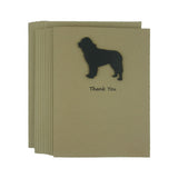 Newfoundland Dog Thank You Card 10 Pack or Single Card Dog Greeting Cards Dog Thank You Cards - Embellish by Jackie
