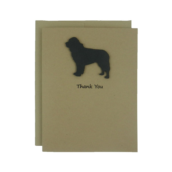 Newfoundland Dog Thank You Card 10 Pack or Single Card Dog Greeting Cards Dog Thank You Cards