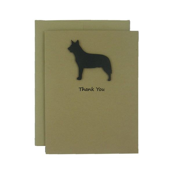 Australian Cattle Dog Thank You Card 10 Pack - Embellish by Jackie
