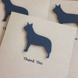 Australian Cattle Dog Thank You Card 10 Pack or Single Card Dog Greeting Cards Dog Thank You Card - Embellish by Jackie