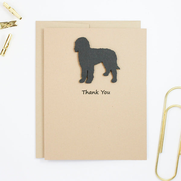 Bernedoodle Thank You Cards | Handmade Black Labradoodle Card | Single - 10 Pack | Choose Inside