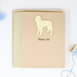 Goldendoodle Yellow Dog Thank You Card 10 Pack Labradoodle