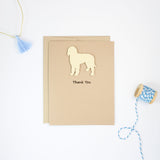 Goldendoodle Thank You Cards | Handmade Labradoodle Greeting Card | Single - 10 Pack | Choose Inside