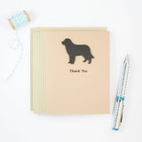 Golden Retriever Thank You Card | Handmade Black Dog Notecards | Single or 10 Pack | Choose Inside
