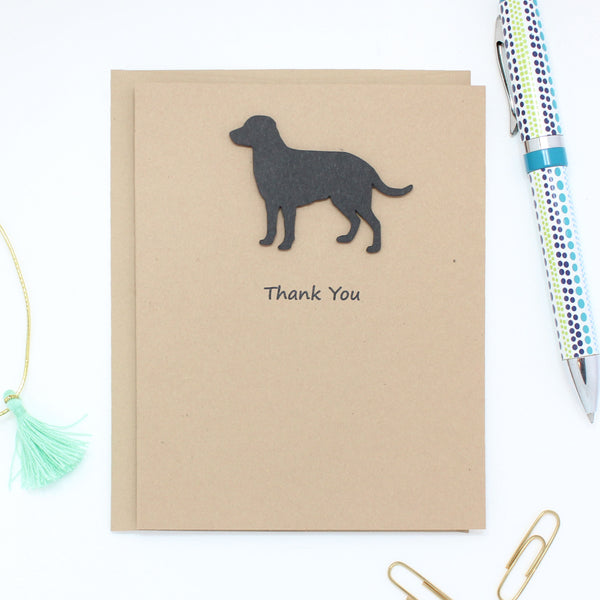 Labrador Retriever Dog Thank You Card Black Lab Dog Greeting Cards Dog Thank You Cards - Embellish by Jackie