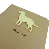 Yellow Labrador Retriever Dog Thank You Card Yellow Lab Dog Greeting Cards Dog Thank You Cards British Lab