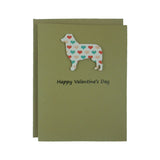 Border Collie Valentine's Day Cards - Dog Heart Patterned Single Card or 10 Pack - Embellish by Jackie