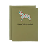 Australian Cattle Dog Valentine's Day Cards - Cattle Dog Heart Patterned 10 Pack - Embellish by Jackie