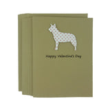 Australian Cattle Dog Valentine's Day Cards Red Heart - Cattle Dog Heart Patterned