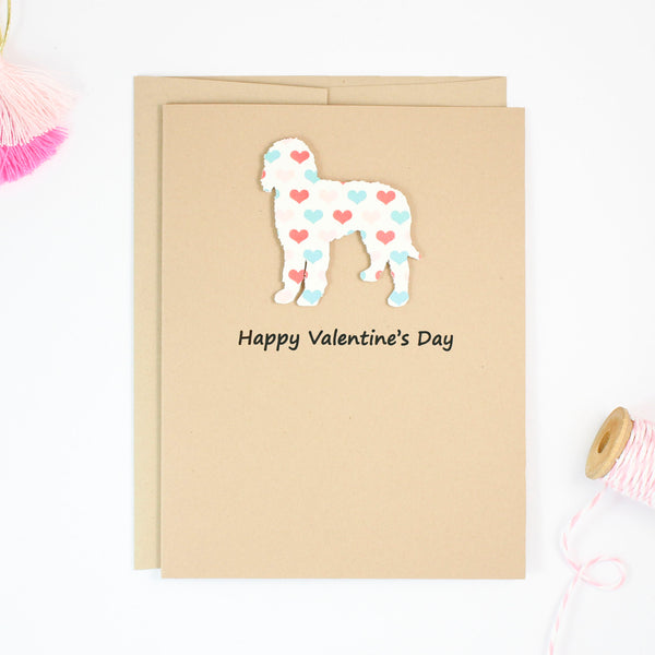 Goldendoodle Valentine's Day Card | Labradoodle | Bernedoodle | Dog Hearts Valentine Notecards