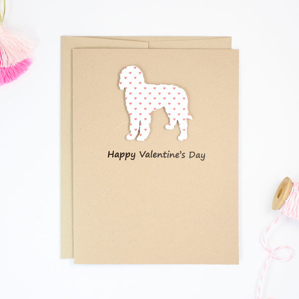Goldendoodle Valentine's Day Card | Labradoodle | Bernedoodle | Red Hearts Valentine Notecards