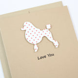 Poodle Valentine's Day Card | Single 10 Pack |Choose Phrases | Toy Miniature Standard | Continental