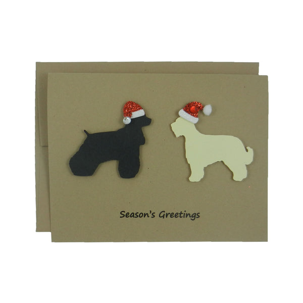 Two Pets Christmas Cards 10 Pack Dog or Cat Holiday Cards Gift Pet Christmas Cards