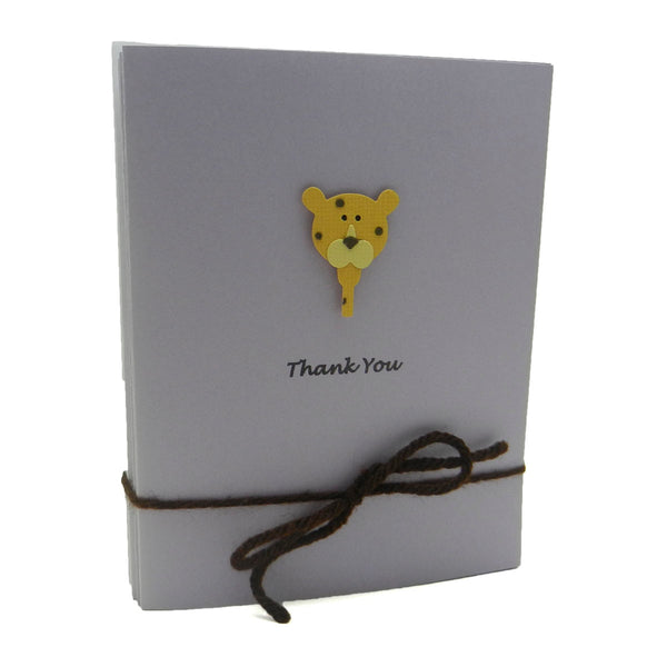 Leopard Baby Thank You Cards Purple 10 Pack Baby Shower Thank You Notes