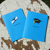 Handmade Graduation Thank You Cards - 10 Pack - Celestial Blue - Embellish by Jackie