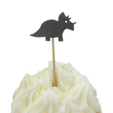 Triceratops Set of 12 Cupcake Toppers Dinosaur Cupcake Topper Birthday Dinosaur Topper Dinosaur Party Dinosaur Decor Dinosaur Cake Topper - Embellish by Jackie