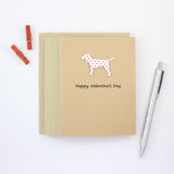 Dog Valentines Day Greeting Cards - Standard Dog 10 Pack - Blank Inside