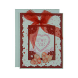 Valentine's Day Greeting Card - Handmade Recycled - Love Ya Hearts Valentine's Day Card