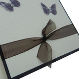 Wedding Card - Handmade Wedding Congratulations Card - Purple and Ivory with Butterflies
