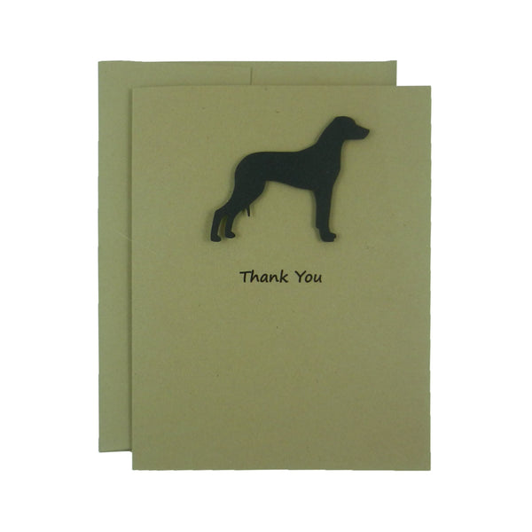 Rhodesian Ridgeback Thank You Cards - Handmade Black Dog Kraft Thank You Note Cards - Embellish by Jackie