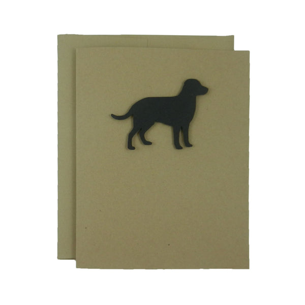 Labrador Retriever Blank Cards - Handmade Black Dog Kraft Note Cards - Greeting Card 10 Pack or Single Card Pick inside - Blank Note Card - Embellish by Jackie