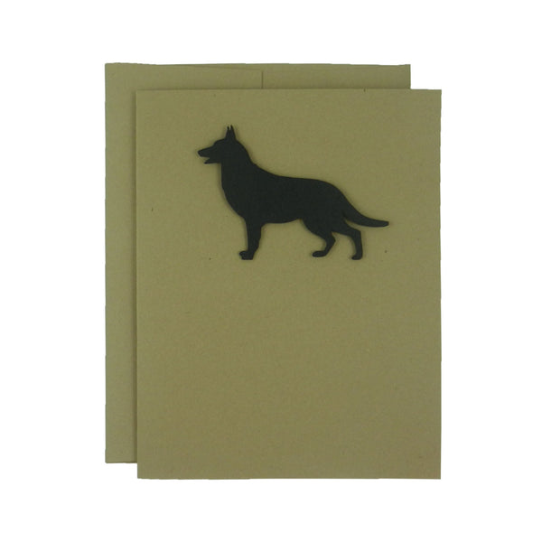 German Shepherd Blank Cards 10 Pack Handmade Black Dog Kraft Note Cards - Greeting Card - Embellish by Jackie