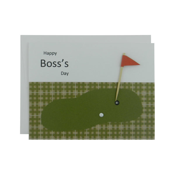 Golf themed happy boss's day handmade greeting card - Embellish by Jackie
