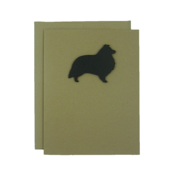 Sheltie - Shetland Sheepdog Blank Cards - Handmade Black Dog Kraft Note Cards - Greeting Card 10 Pack or Single Card Pick inside Note Cards - Embellish by Jackie