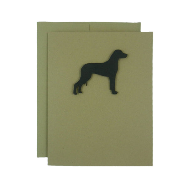 Rhodesian Ridgeback Blank Cards - Handmade Black Dog Kraft Note Cards - Greeting Card 10 Pack - Embellish by Jackie