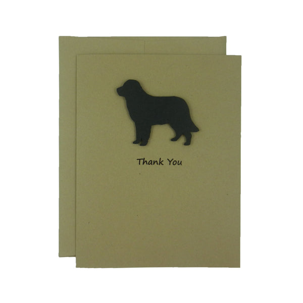 Golden Retriever Thank You Card - Handmade Dog Kraft Thank You Note Card - Embellish by Jackie
