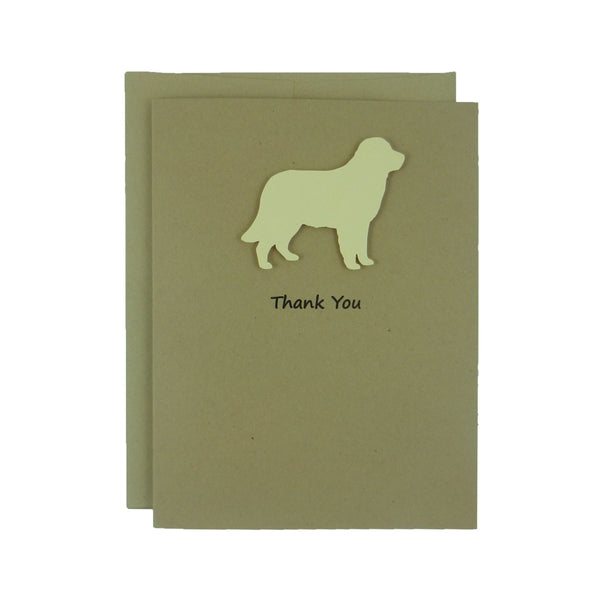 Golden Retriever Dog Thank You Card Dog Greeting Card - Embellish by Jackie