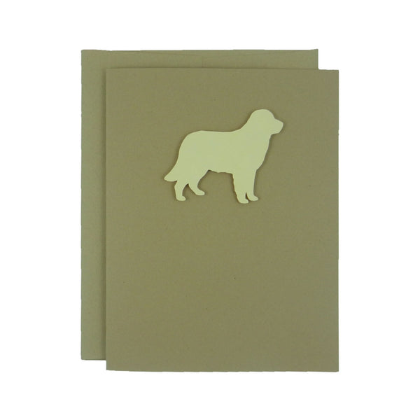 Golden Retriever Blank Dog Note Card Single Card Golden Dog - Embellish by Jackie