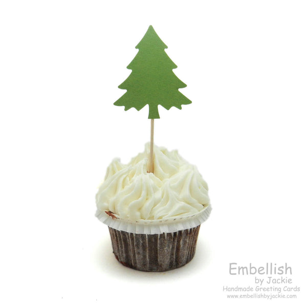 Christmas Tree Cupcake Topper - Set of 12 - Embellish by Jackie