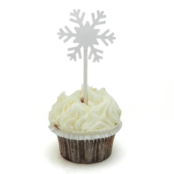 Snowflake Cupcake Topper - Set of 12 - Embellish by Jackie