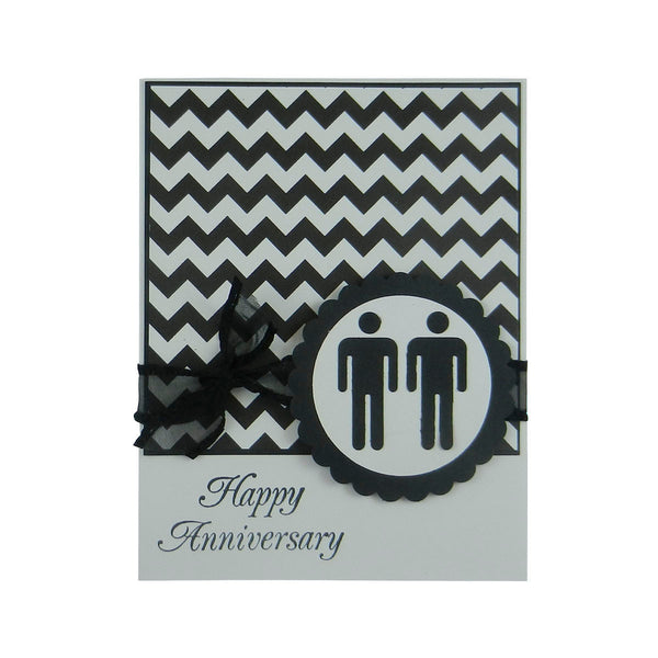 Chevron Anniversary Card Gay Anniversary Card Lesbian Anniversary Card same Sex Card Gay Gift Lesbian Gift Same Sex Anniversary LGBT Gift - Embellish by Jackie