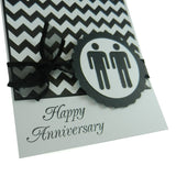 Chevron Anniversary Card Gay Anniversary Card Lesbian Anniversary Card same Sex Card Gay Gift - Embellish by Jackie
