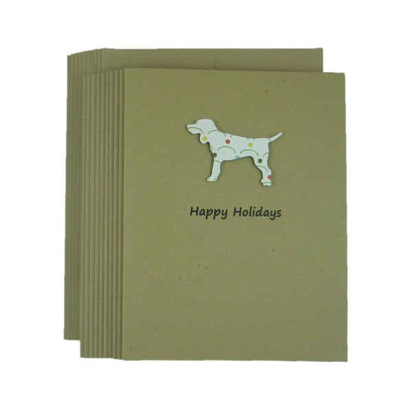 Dog Christmas Cards - 10 Pack - Dog Silhouette Christmas Cards -  Dog Holiday Cards - Lab Snowflake Dog Silhouette Cards - Labrador Cards - Embellish by Jackie