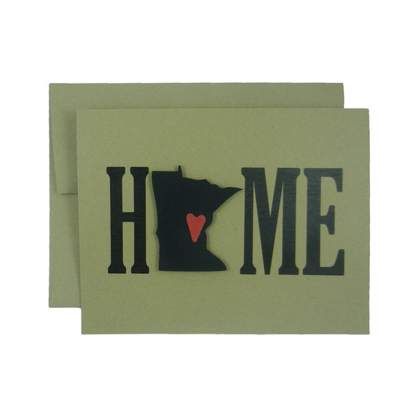 Minnesota Home Greeting Card Minnesota Gift New Home Gift Minnesota Love Housewarming Gift Minnesota Card New Home Card House warming Gift - Embellish by Jackie